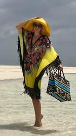 Плажна туника с ресни