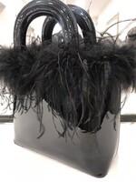 Лачена чанта с пера