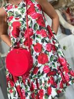 Къса рокля на рози