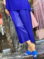 Комплект от копринен рипс в наситено син цвят