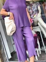 Комплект от копринен рипс в лилаво