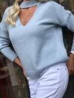 Пуловер в небесно синьо