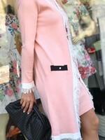 Комплект в розово с ресни