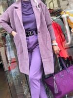 Кашмирена жилетка в лилаво
