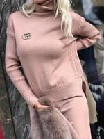 Сет с пуловер в  бежово