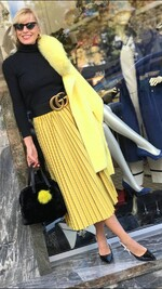 Кадифен пола в жълто