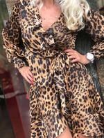 Рокля с леопардов принт