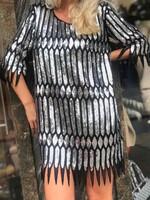 Парти рокля с пайети