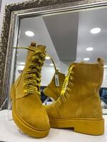Велурени боти в жълто