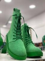 Велурени боти в зелено 2