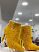 Боти на ток в жълто