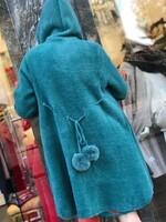 Жилетка в синьо-зелен цвят