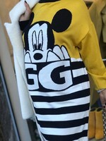 Рокля с Мики Маус в жълто