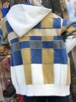 Карирана жилетка в синьо