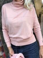 Поло-блуза в цвят пудра