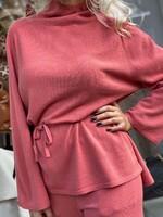 Кашмирен комплект в керемиден цвят