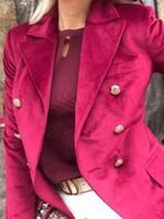 Кадифено сако в бордо