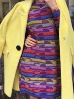 Лилава рокля с пъстри мотиви