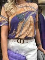 Блуза в лилаво