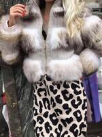 Късо палто с естествен косъм