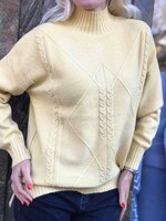 Пуловер one size в светло жълто