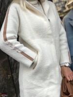 Кашмирена жилетка бяло и бежово