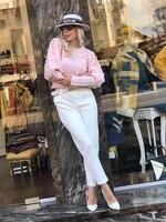 Скъсен пуловер в розово