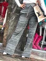 Панталон в сиво с висока талия