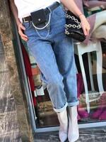 Дънки с колан-чантичка