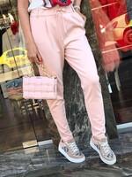 Панталон от трико в розово