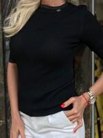 Изчистена блуза в черно