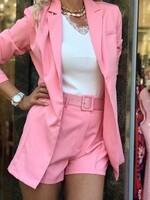 Сет с къси панталони в розово