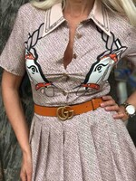 Бежова рокля с коне