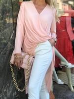 Риза в бледо розово