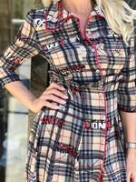 Асиметрична рокля каре