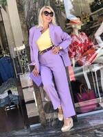 Комплект в лилав цвят