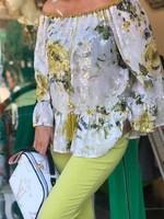 Блуза с пайети в зелено