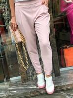Летен панталон в цвят розова пудра