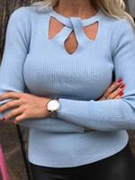 Блуза с ажурно деколте 5