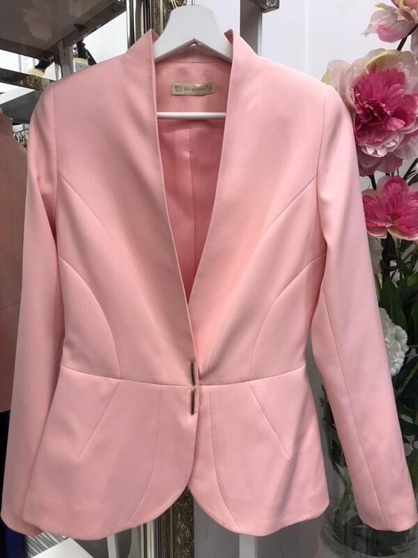Сако в светло розово