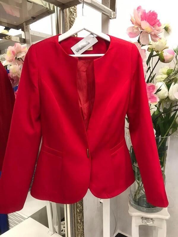 Сако в червено