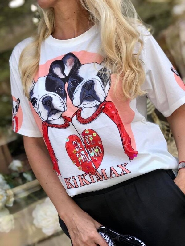 Тениска с куче