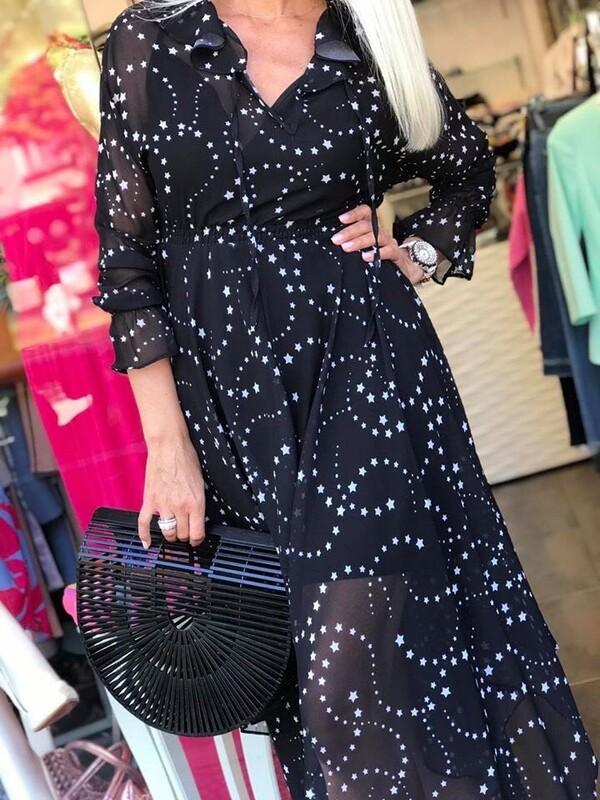Асиметрична рокля в черно