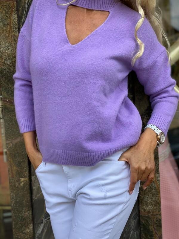 Пуловер в лилаво