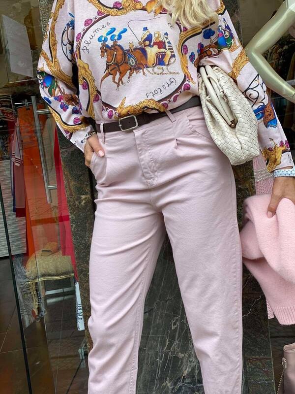 Панталон в бледо розово