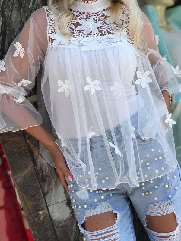Блуза от тюл