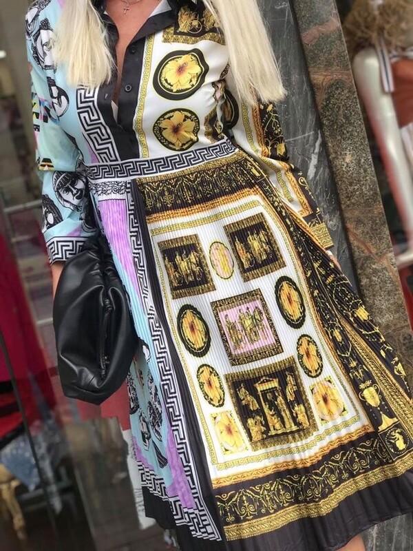 Цветна рокля солей