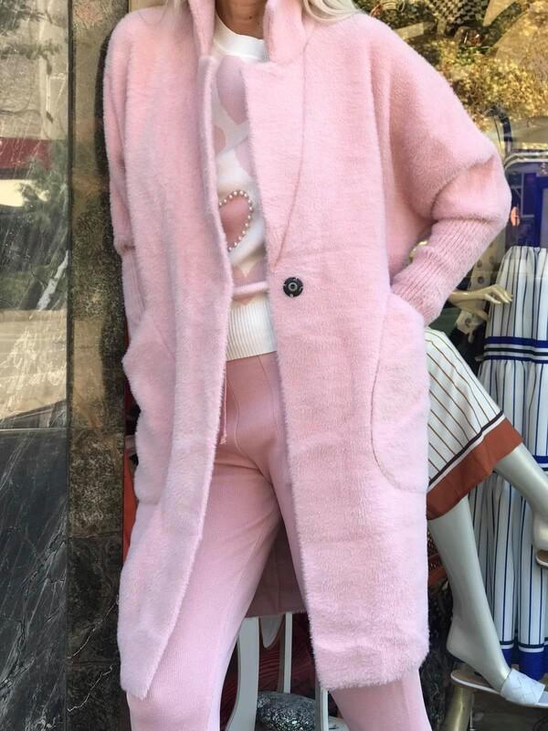 Жилетка от кашмир в бледо розово