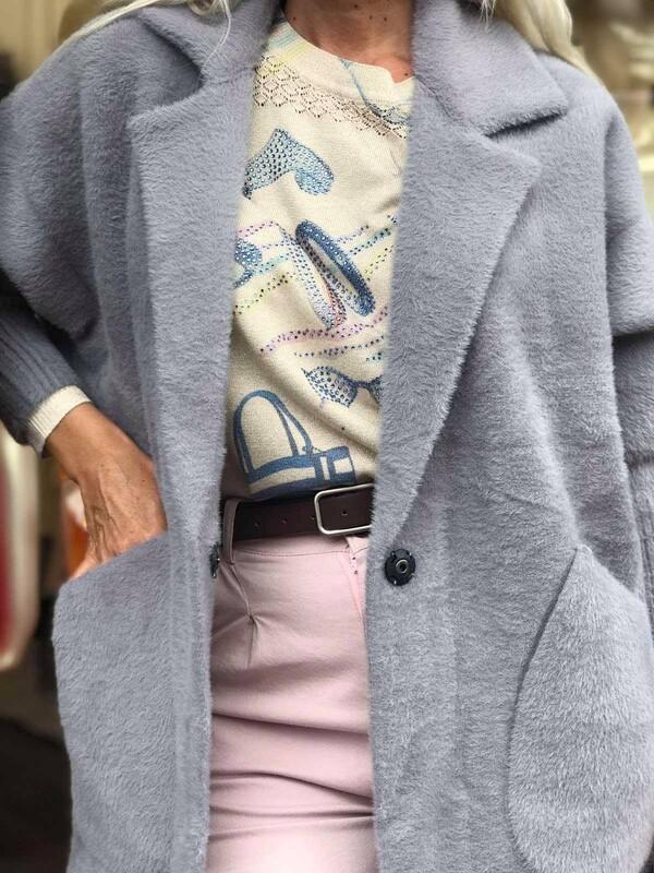 Кашмирена жилетка в сиво