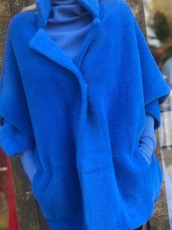 Жилетка със 7/8 ръкав в синьо